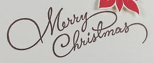 お洒落なメリー・クリスマスの筆記体