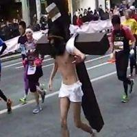 東京マラソン コスプレ キリスト