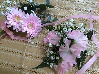 生花で簡単コサージュ、作り方