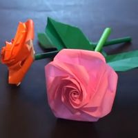 バラの折り方