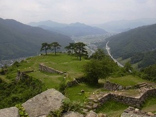 天空の城「竹田城跡」写真