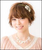 結婚式の髪型簡単ショートアレンジ