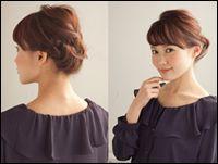 結婚式の髪型編み込み