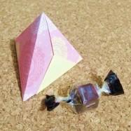 折り紙だけで作るギフトBOX【中級】「テトラ型の入れ物」ぷちラッピング