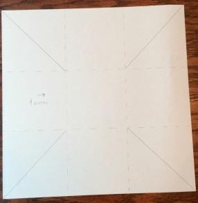 9分割後4角を斜めに折る