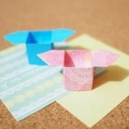 折り紙【簡単】取っ手付きBOX「三方(さんぼう)」、折り方とアレンジいろいろ