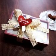 100均でバレンタイン「本命」トリュフ・生チョコを高級風にラッピング、セリアサイトを参考に作ってみました