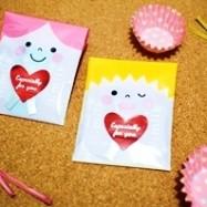 100均でバレンタイン「友チョコ」すごく簡単かわいいラッピングアレンジ5種類、作り方