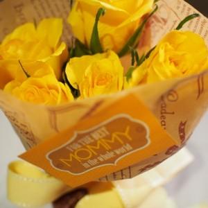 500円の花束が完成しました