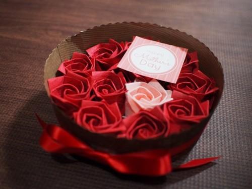 バラのケーキギフトボックス