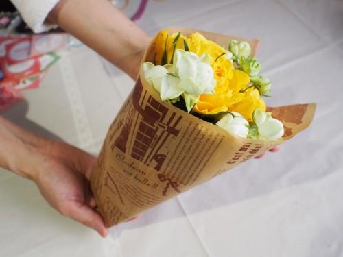 花を入れて