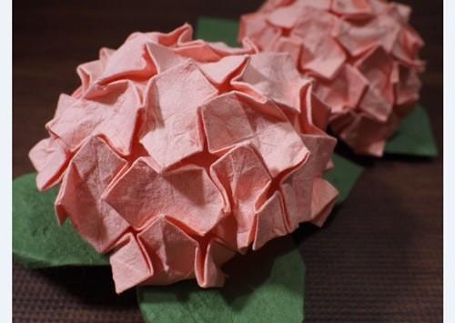 難しい「あじさい」の折り方・折り紙